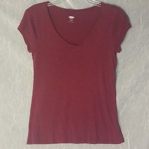 Old Navy Red Maroon XS T-Shirt